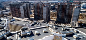 Unfinished Tsaritsyno residential complex in Moscow