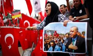 Erdoğan supporters in Cologne