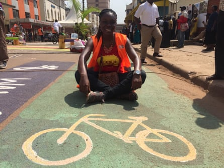 'I can even go and sit on the middle of the street if i want to' … Judith Owigar, an organiser of the event from UN-Habitat.
