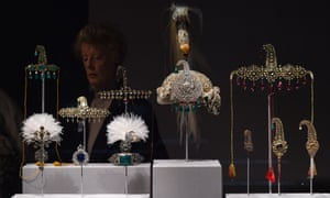 Items from the Al Thani collection on display at the Metropolitan Museum in New York