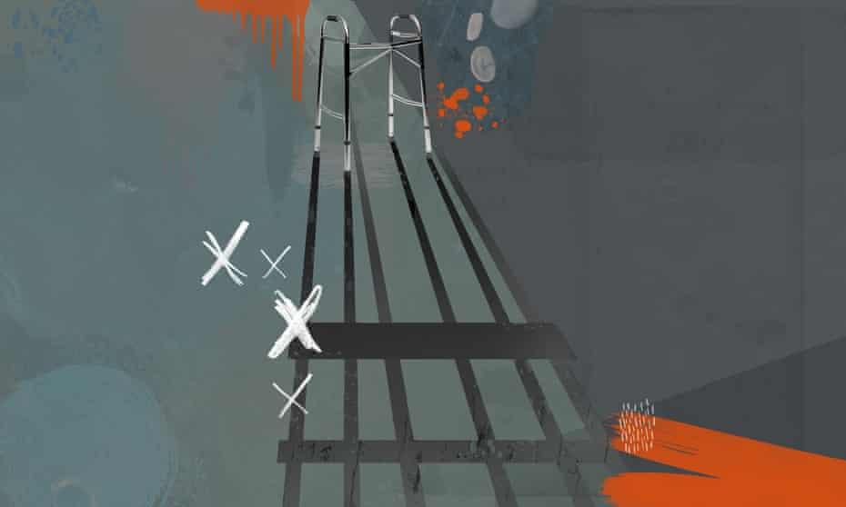 illustration for long read about older men in british prisons