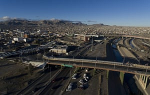 An aerial view of the Mexican city of Ciudad Juárez and the US city of El Paso taken from Ciudad Juárez, Chihuahua state on 20 February