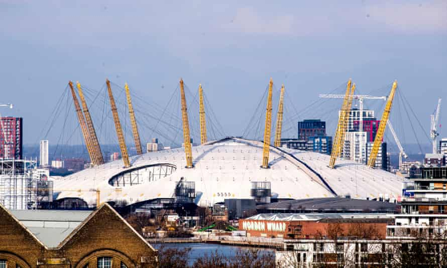 Exterior of O2 pictured in February 2021