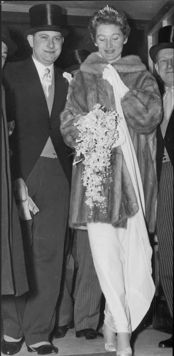 Angela Buxton at her wedding to Donald Silk in 1959.