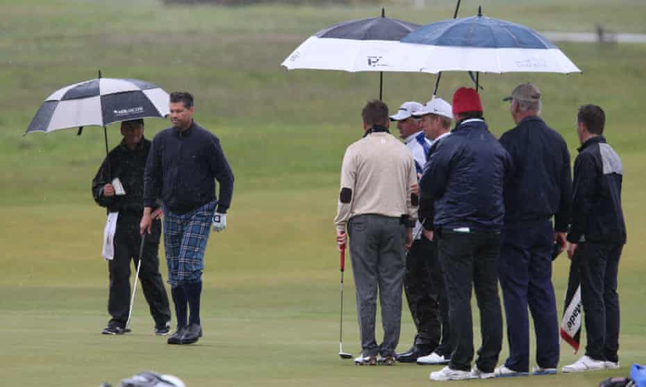 Visitors play golf at Muirfield Golf Club, East Lothian