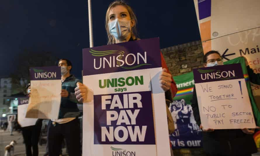Unison protests against spending review public sector pay freeze