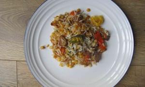Kaushy Patel deep-fries all her vegetables.