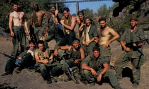 'I saw grown men cry' … the cast of Platoon.