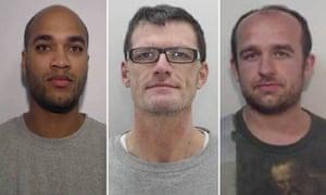 Aldaire Warmington, 32 (left), Christopher Hall, 49 (centre), Carne Thomasson, 28 (right).