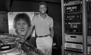 Larry Levan in the DJ booth at Paradise Garage in 1978