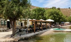 The Taverna Metapontis, in Nimborio bay, on the Greek island of Symi