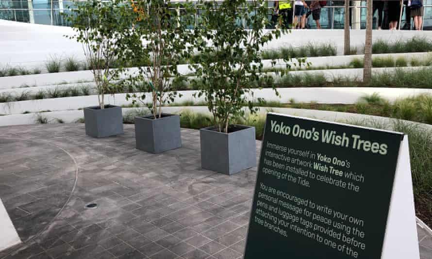 Meditation corner … Yoko Ono's forlorn Wish Trees.