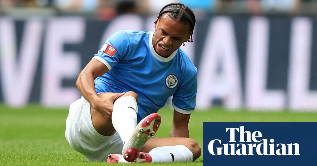 Manchester City's Leroy Sané facing long spell on sidelines with knee injury