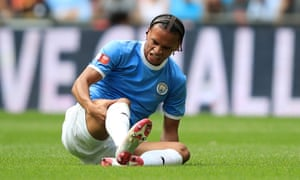 Leroy Sané suffered the injury during the Community Shield victory over Liverpool on Sunday.
