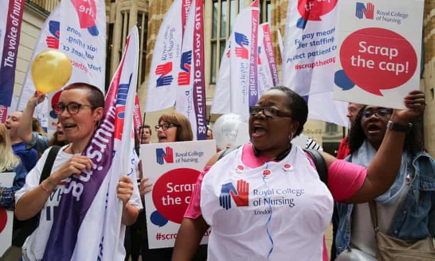 Royal College of Nursing pay protest