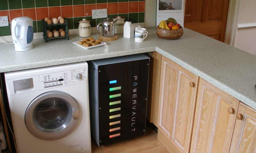 The Powervault energy storage system at home.