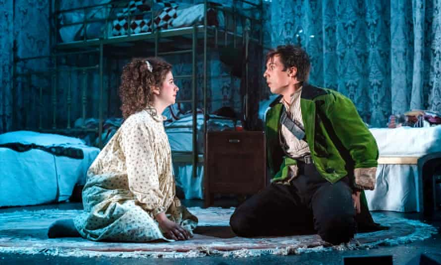 Isobel McArthur (Wendy) and Ziggy Heath (Peter) in Wendy and Peter Pan