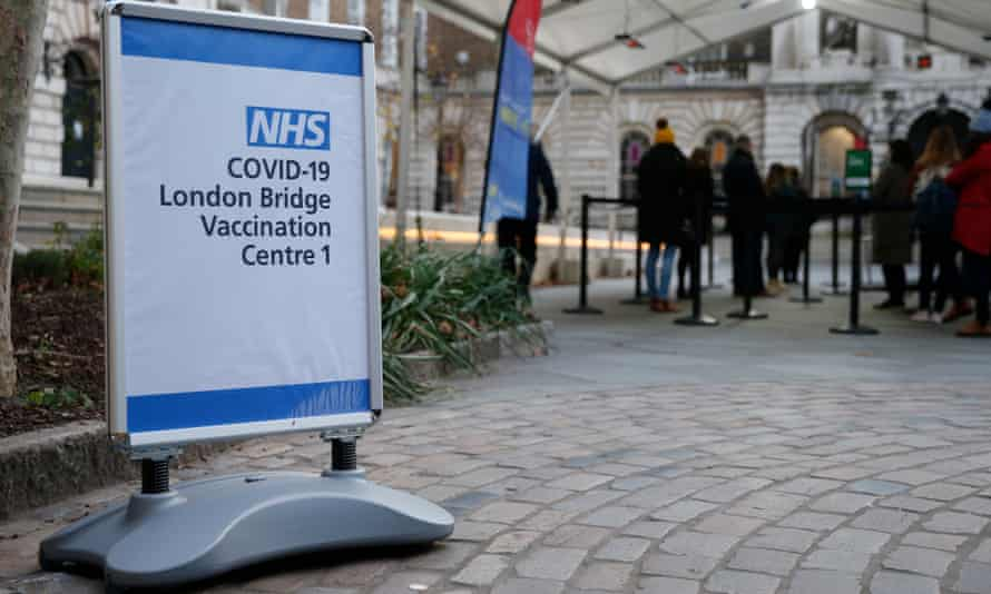 London vaccination centre in operation on 30 December