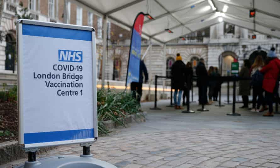 A vaccination centre in London Bridge