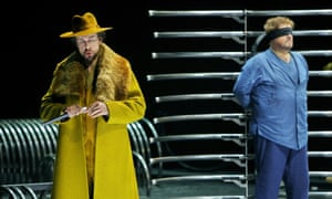 Georg Zeppenfeld and Stephen Gould in Tristan und Isolde at the Bayreuth festival.