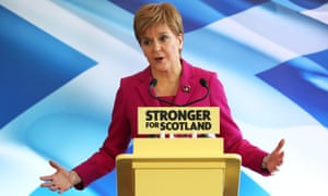 Nicola Sturgeon speaks at the SNP's general election campaign launch in Edinburgh.