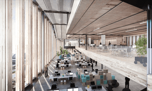 Simulation of Google's new London HQ