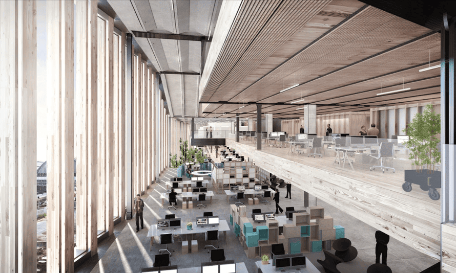 The new HQ will have large open spaces.