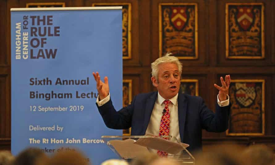 BrexitSpeaker of the House of Commons, John Bercow, speaking at the Sixth Annual Bingham Lecture at Middle Temple in London. PA Photo. Picture date: Thursday September 12, 2019. See PA story POLITICS Brexit Bercow. Photo credit should read: Yui Mok/PA Wire