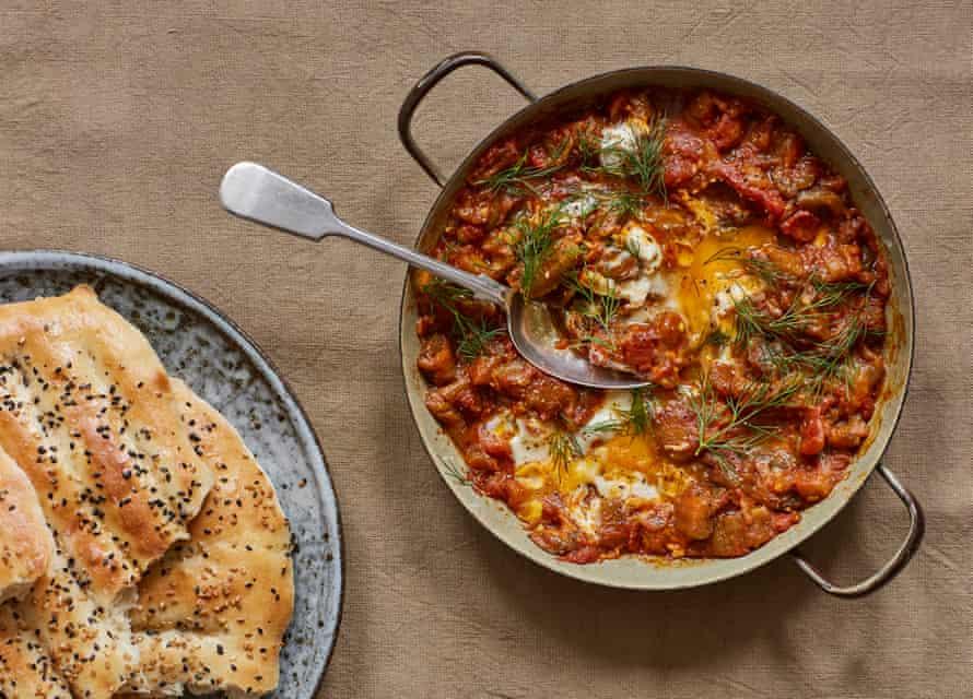 Kian Samyani's tomato and aubergine dip, AKA mirza ghasemi.