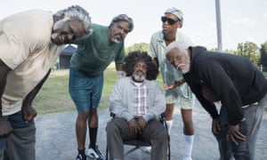 Getting boys back together … Uncle Drew, with Kyrie Irving, far right.
