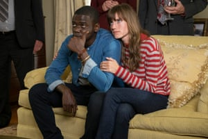Allison Williams with Daniel Kaluuya in Get Out.