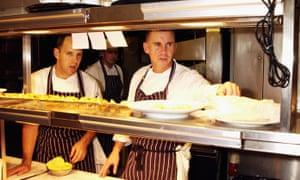 Rhodes in the kitchen in 2003