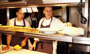 Gary Rhodes preparing for the opening of Rhodes Twenty Four at Tower 42, then London's tallest building, in 2003.