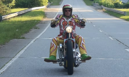 Grayson Perry on his bike