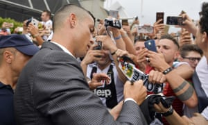 Ronaldo was greeted by huge crowds as he arrived for his Juventus medical and unveiling.
