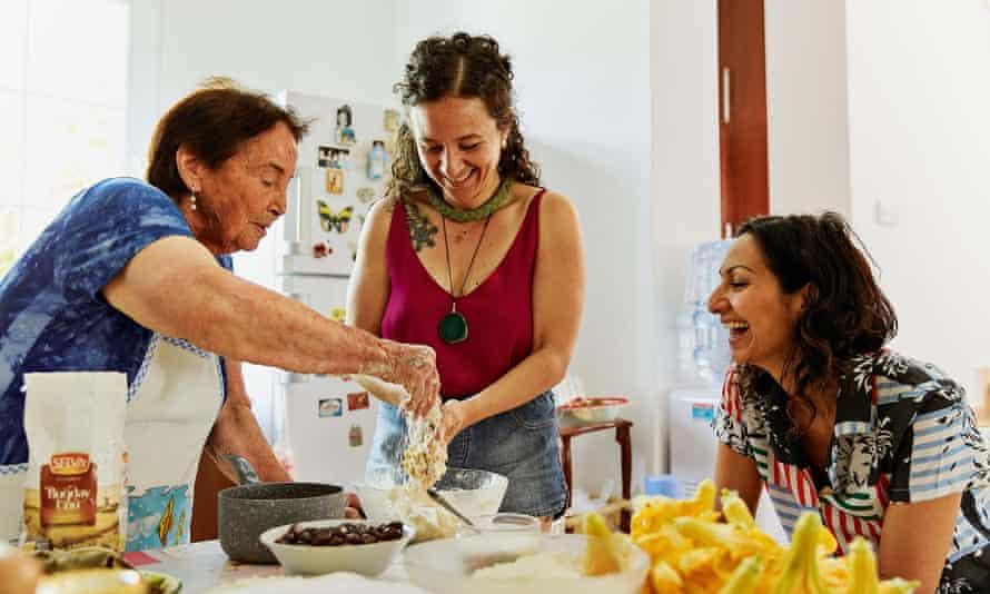 Yasmin In Cyprus with Nahide Köşkeroğlu and Cizge Yalkin.