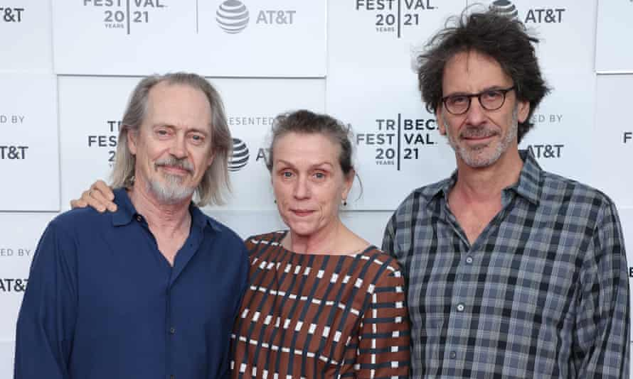 Steve Buscemi, Frances McDormand and Joel Coen. 'It isn't fair that we have to see ourselves so young sometimes,' said McDormand of re-watching the film.