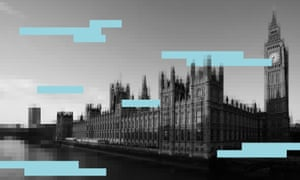 Houses of parliament splattered with 'redaction' panels