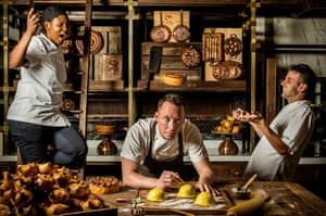 Chef Calum Franklin (centre) of the Holborn Dining Room in London