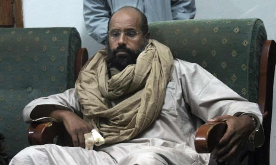 Saif al-Islam in Zintan after his 2011 capture.