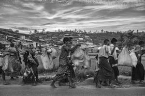 Arriving at the Palongkali refugee camp