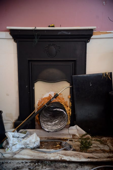 A ventilation duct forced into the fireplace of Helen Jenkins' house