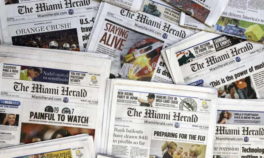 Carl Hiaasen Ends Miami Herald Career With Warning For Journalism S Future Newspapers The Guardian