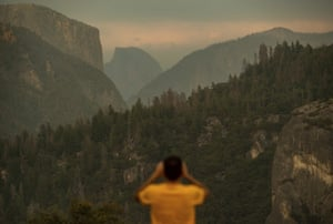 Smoke has clouded the air in Yosemite's famous valley.