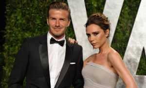 David and Victoria Beckham at the Oscars in 2012