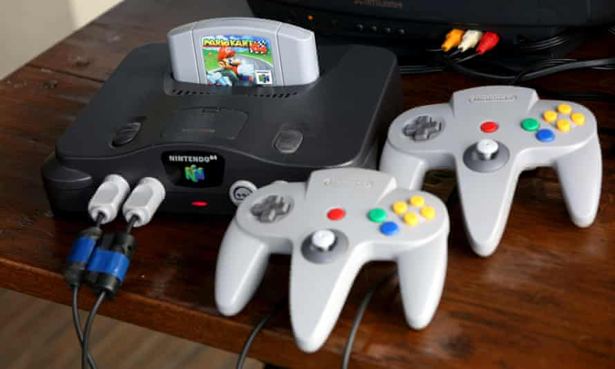 The Nintendo 64 console.