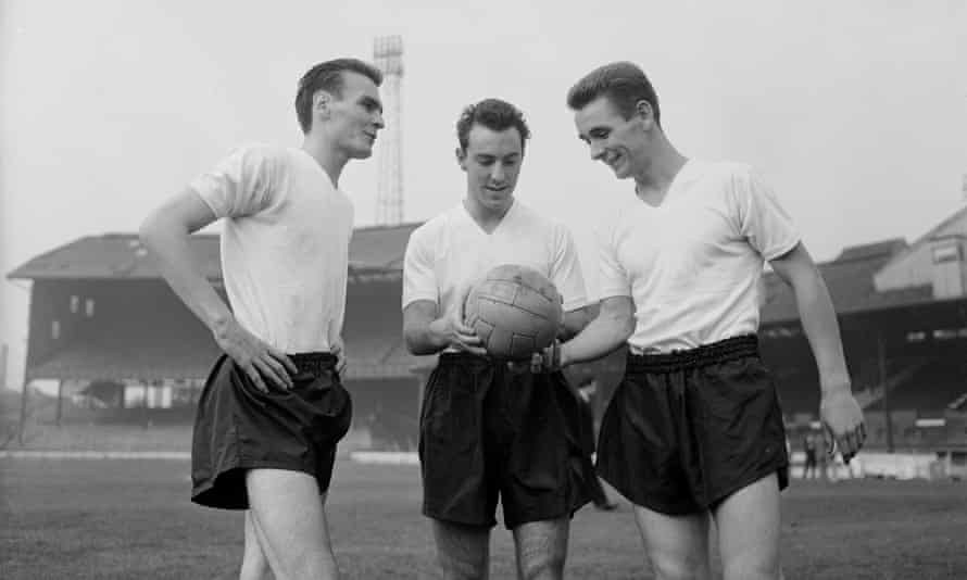 Jimmy Greaves with Brian Clough and Edwin Holliday in October 1959