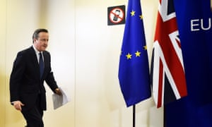 Prime minister David Cameron at a Brussels summit