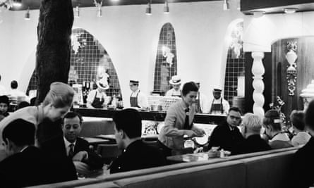 Shelling out: diners at the Golden Egg, Charing Cross Road, London, October 1963.