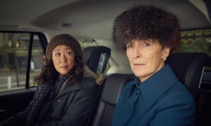Sandra Oh as Eve Polastri and Fiona Shaw as Carolyn Martens